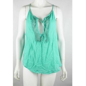 Hollister Women's Babydoll Top Size Small Green